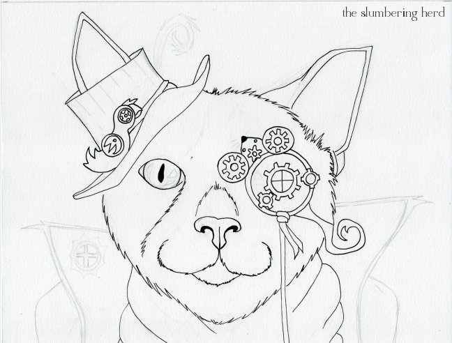 648x492 Steampunk Coloring Steampunk Magician Cat With Copics,nd