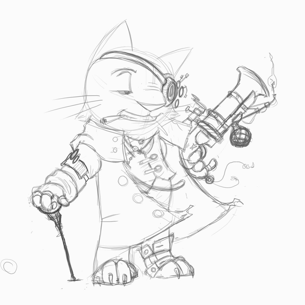 1024x1024 Wip Steampunk Pirate Cat By Rwhicks