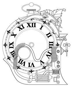 Steampunk Clock Drawing