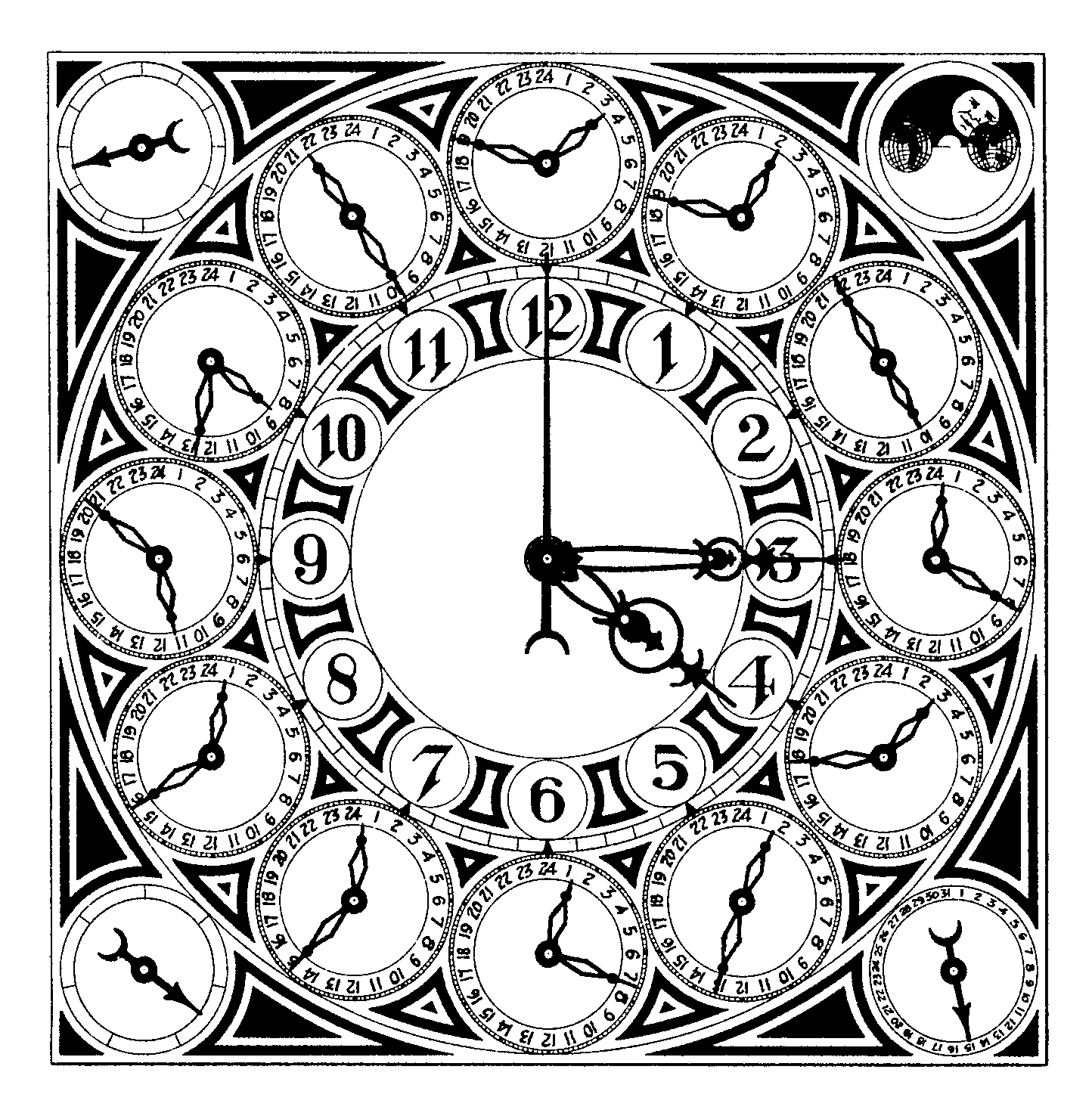 Steampunk Clock Drawing at GetDrawings com | Free for personal use