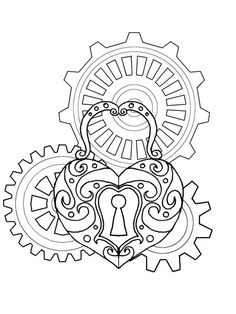236x314 Coloring Pages Steampunk