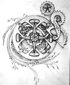 246x300 Steampunk Compass Drawings Bing Images Skin Deep, Steampunk Home