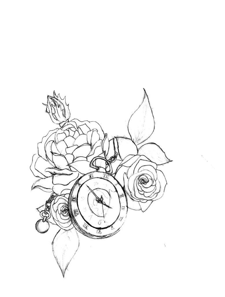 778x1026 Steampunk Tattoo Design In B w By Sky Amethyst