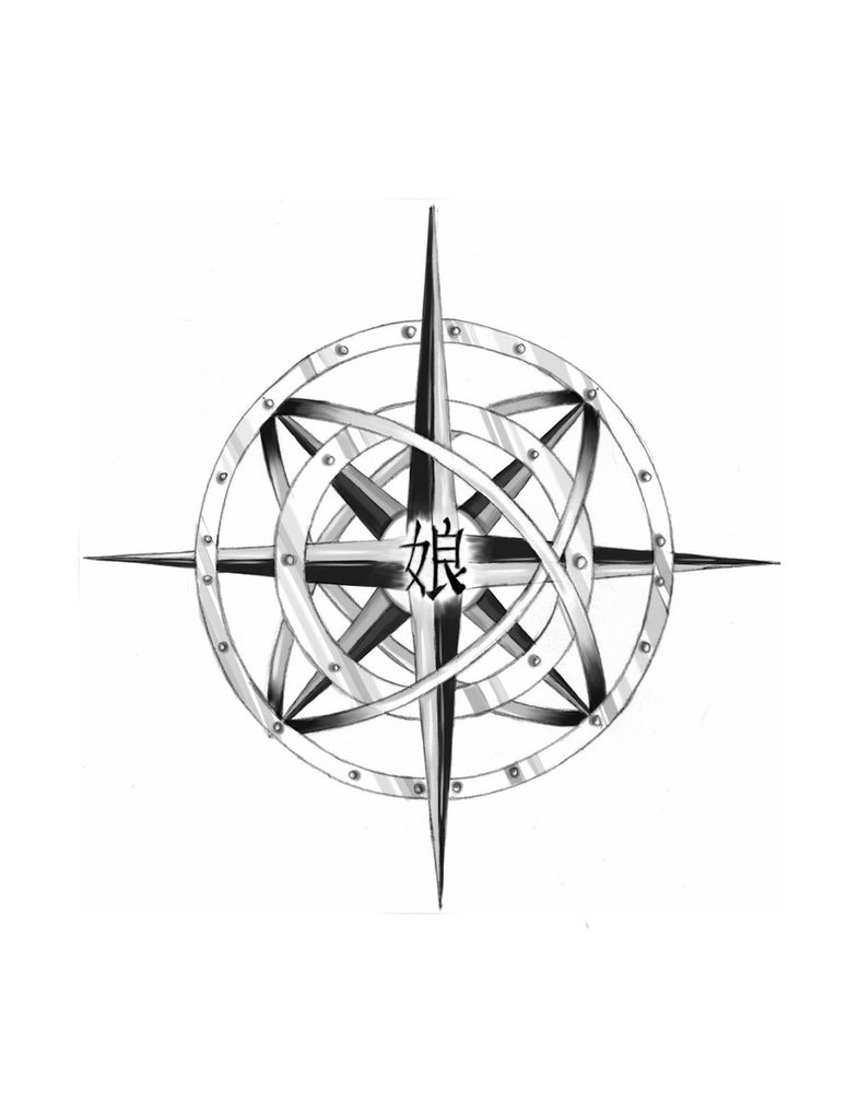 786x1017 Collection Of Compass Roses Tattoo Design
