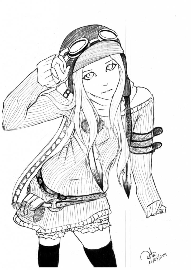 724x1024 Steampunk Girl Drawing Cute Steampunk Girlritadecassia
