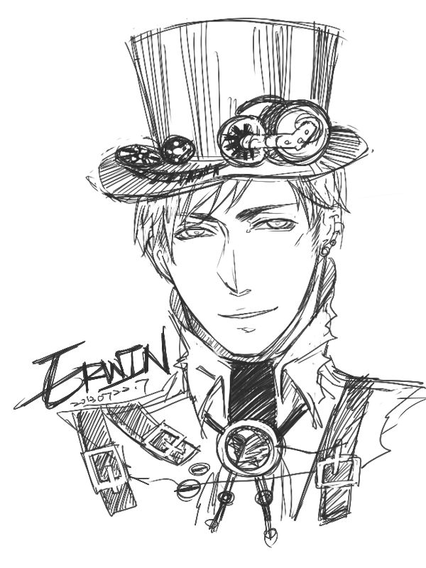 600x800 Drawn Steampunk Person