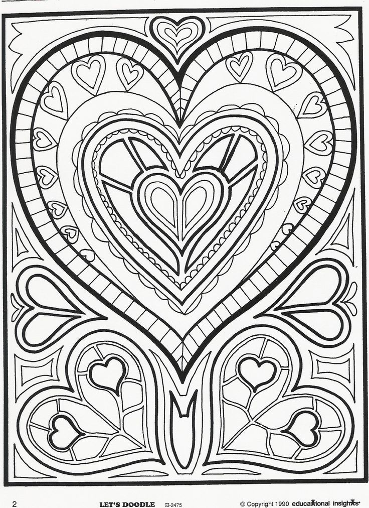 736x1012 Heart Doodle Coloring Pages Easy Disney Frozen Coloring Pages All