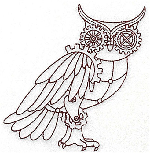 491x500 Animals Embroidery Design Steampunk Owl From Adorable Ideas