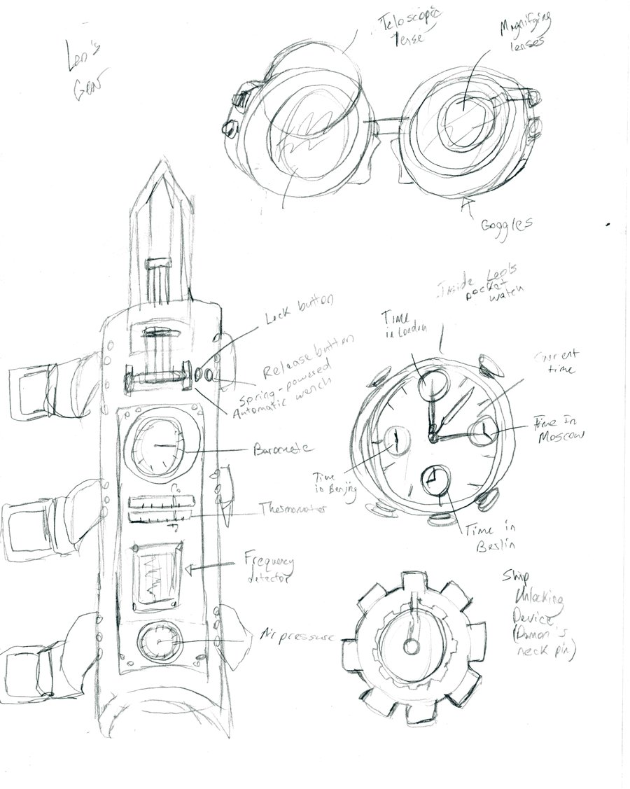 900x1127 Steampunk Gear Sketches By Drakon The Demon
