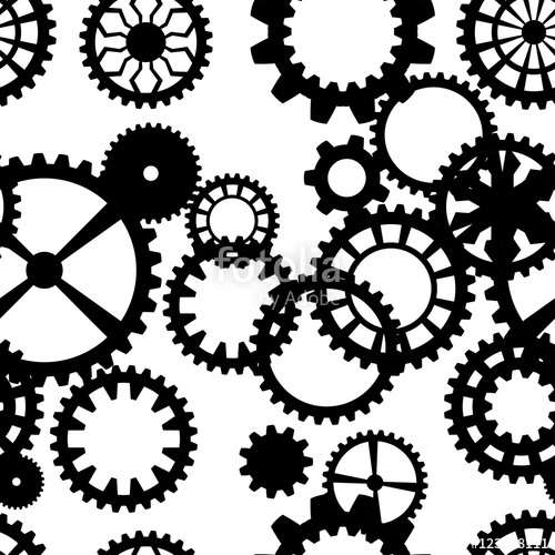 500x500 Steampunk Seamless Pattern With Clock Wheels Stock Image