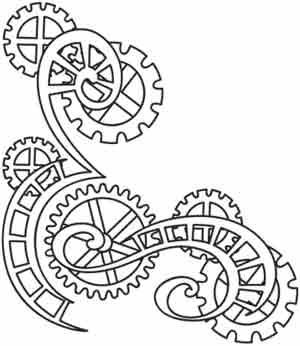 Steampunk Gears And Cogs Drawing