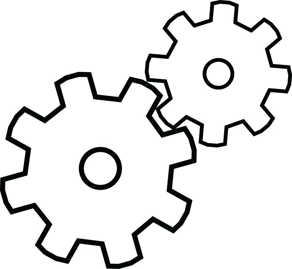 974x900 Gear Pattern. Use The Printable Outline For Crafts, Creating