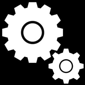 297x298 Simple Gears Clip Art