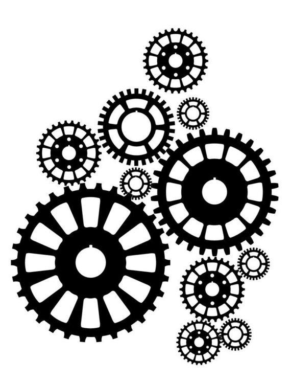 570x749 Steampunk Gears Wall Decal For My Son's Room For My Children