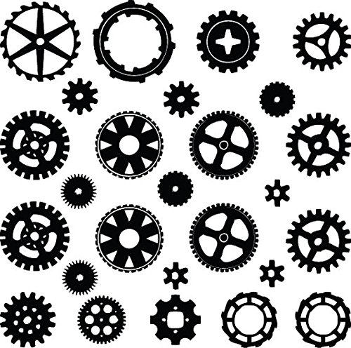 500x496 Yingkai Steampunk Gears Amp Cogs Living Room Vinyl Carving Wall