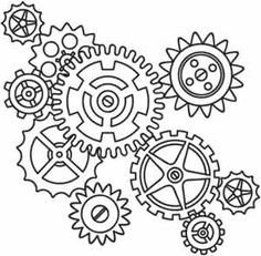 236x231 Steampunk Gear Coloring Page