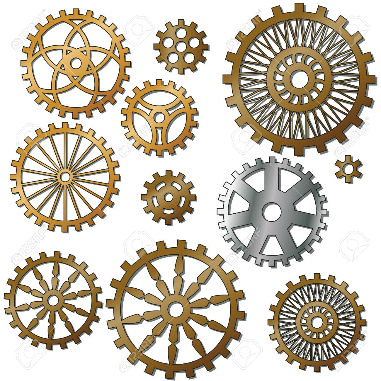 1300x1300 Clock Gears Stock Vector Illustration And Royalty Free Clock Gears