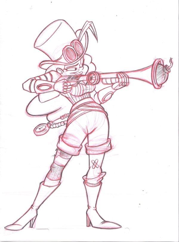 600x810 Steampunk Gunner Girl By Kenny Boy