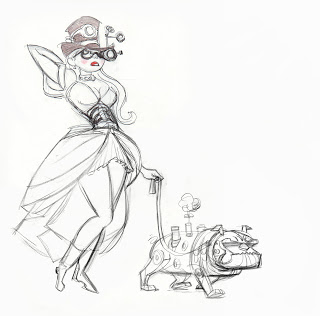320x316 Michael Swofford Drawings Tiffany As Tank Girl And Stacey As
