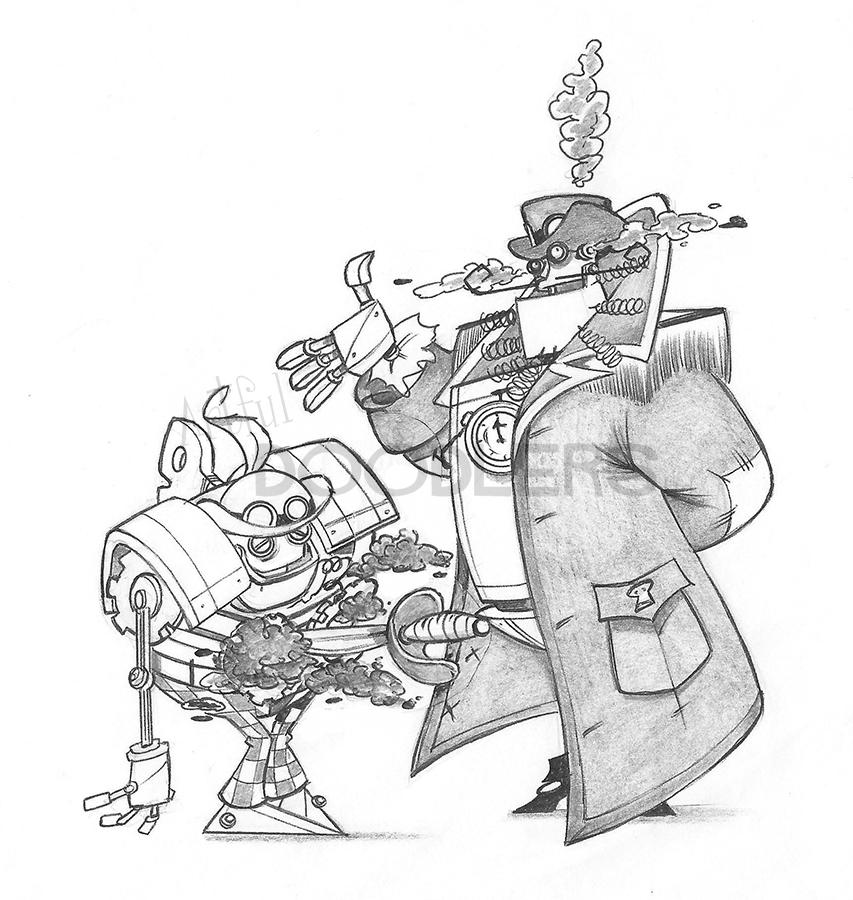 853x900 Steampunk Pirates Captain Clockheart Artful Doodlers