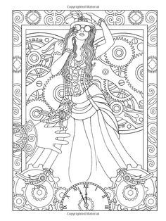 236x314 Adult Coloring Steampunk Steampunk Devices Coloring Book