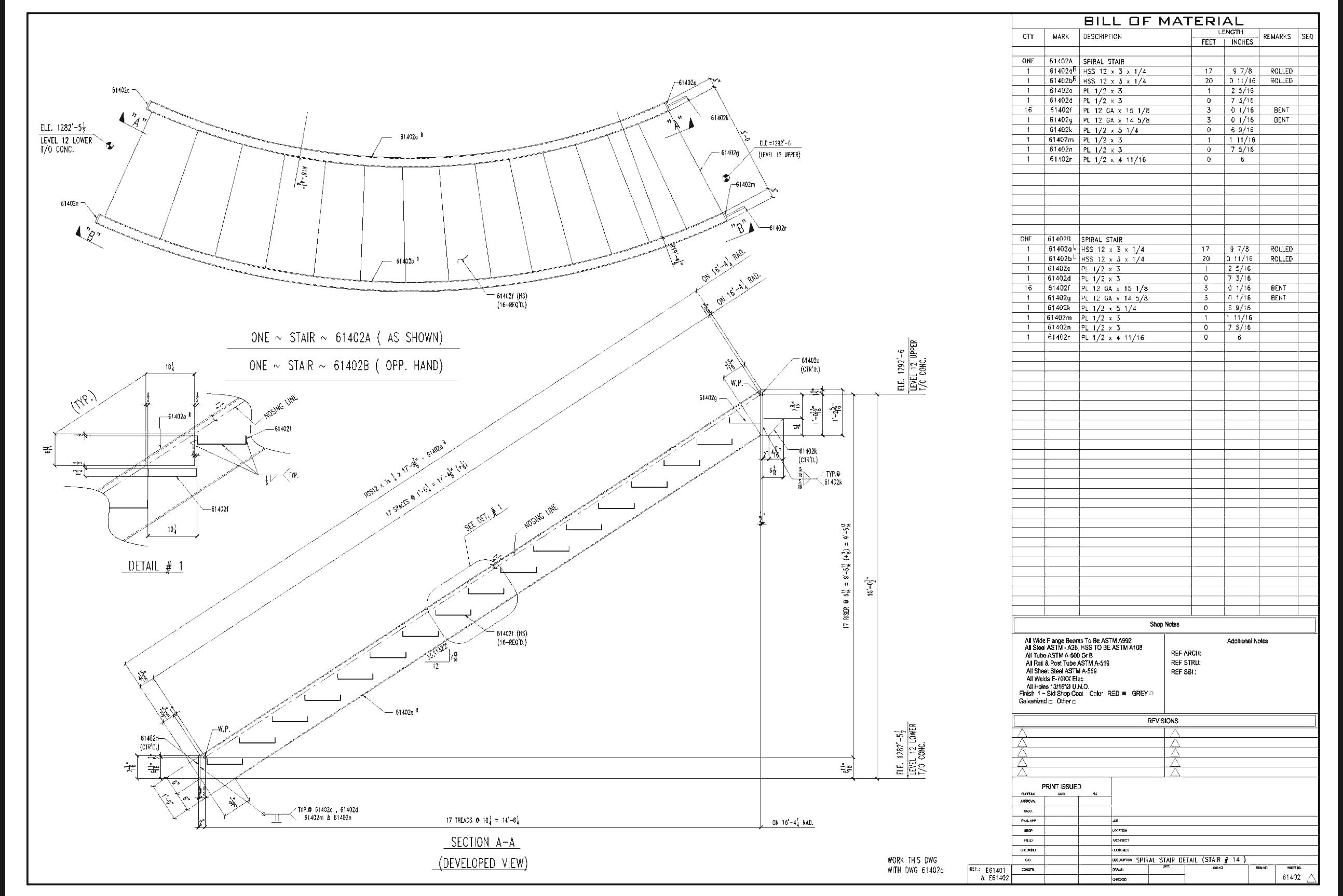 2587x1727 Great Staircase Drawing With Modern Stainless Steel Railing