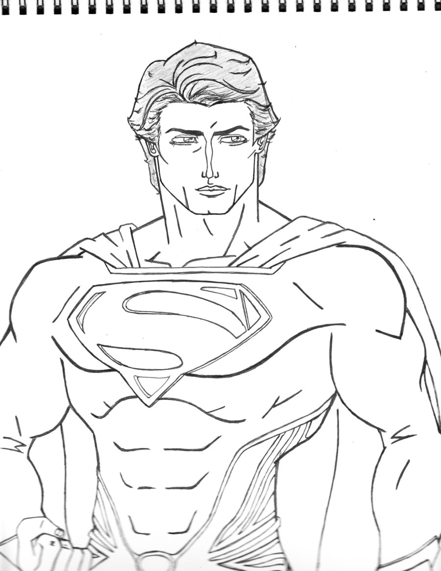 900x1165 Man Of Steel Drawing By Moonknight117