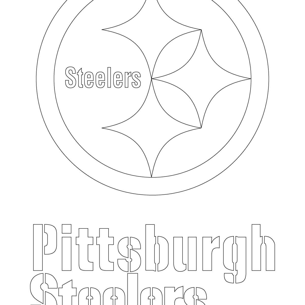 1200x1200 Pittsburgh Steelers Uniform Coloring Nfl Steeler Pages Printable