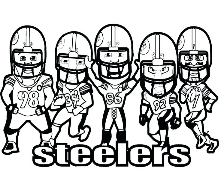 736x604 Steeler Coloring Pages Coloring Pages Players Steelers Football