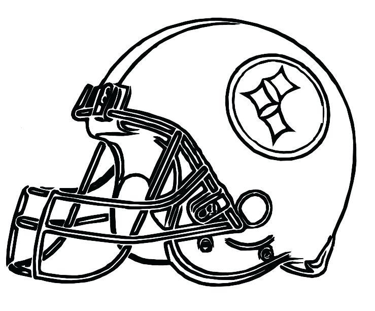 739x612 Steelers Coloring Page Football Helmet Drawing Pittsburgh Steelers