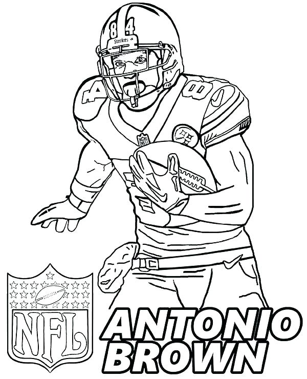 600x740 Steelers Coloring Page