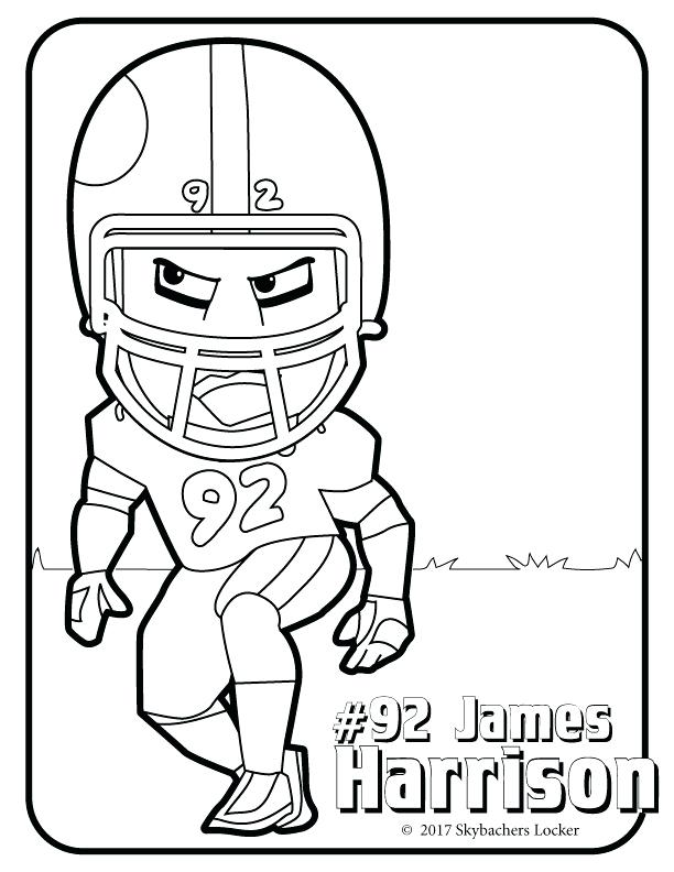612x792 Steelers Coloring Page Free Steelers Football Coloring Pages