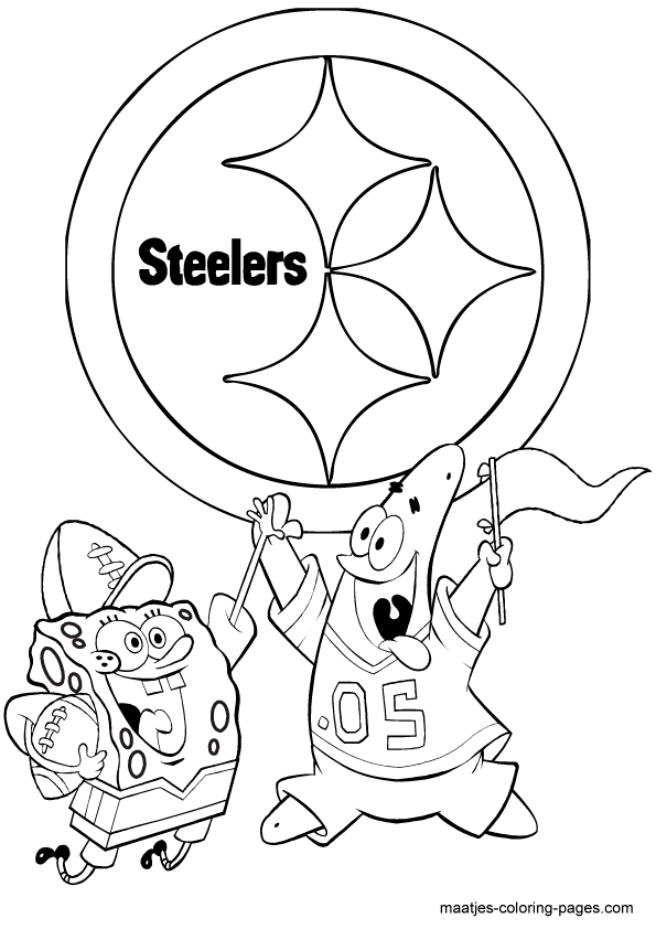 595x842 Steelers Logo Coloring Pages