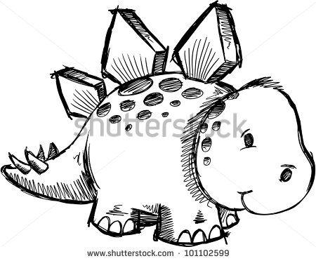 Stegosaurus Drawing