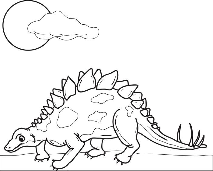 700x562 Free, Printable Stegosaurus Dinosaur Coloring Page For Kids