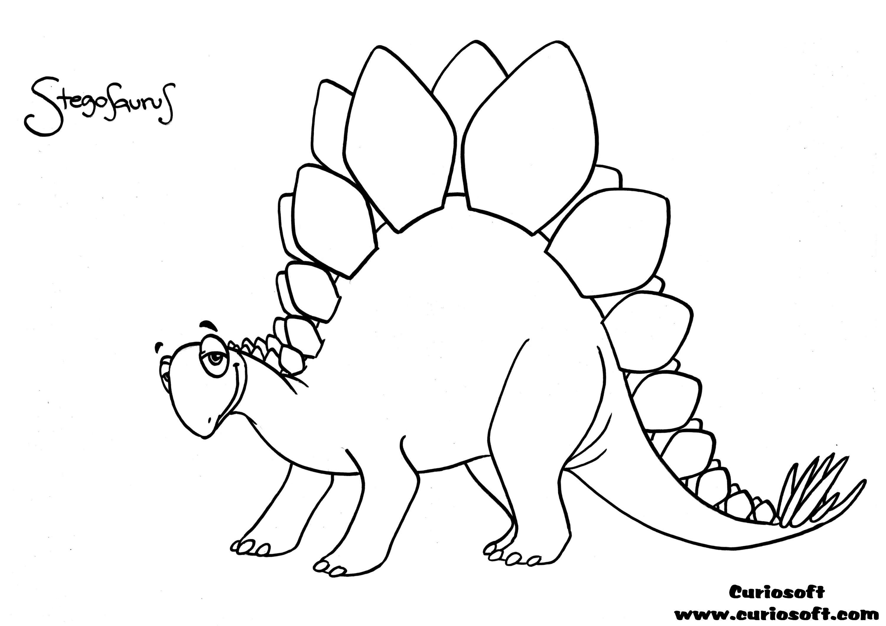 3000x2121 Good Stegosaurus Coloring Pages 78 With Additional Coloring