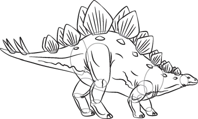 400x242 How To Draw Stegosaurus In 7 Steps Art Reference And Drawings