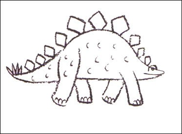 373x275 How To Draw How To Draw A Stegosaurus
