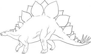 302x180 How To Draw How To Draw A Stegosaurus Dinosaur