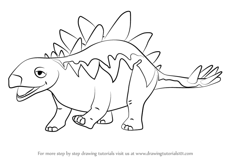 800x566 Learn How To Draw Morris Stegosaurus From Dinosaur Train (Dinosaur