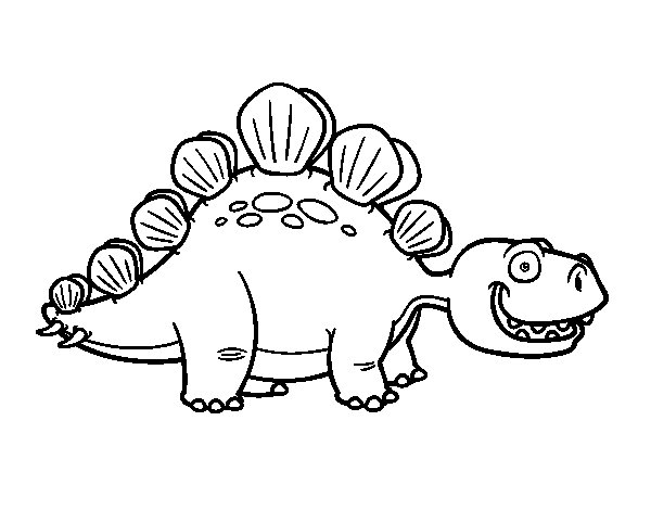 600x470 Stegosaurus Coloring Book The Page