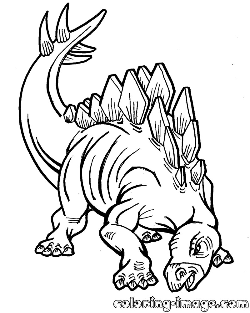 800x1000 Stegosaurus Dinosaur Free Coloring Pages For Kids