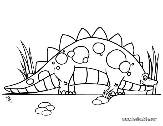 620x480 Cute Stegosaurus Coloring Pages