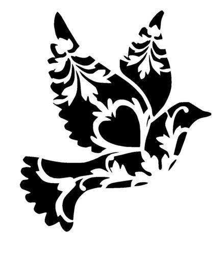 439x500 Fabscraps 8 X 8 Birds Of Paradise Stencil