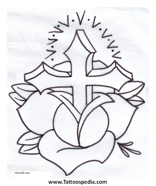 545x650 Cross Tattoos Stencils 2 Cross Tattoos Stencils 2 Tattoo Crosses