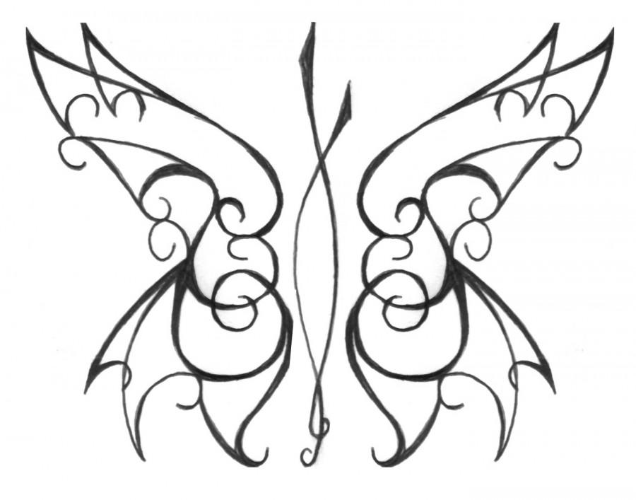 900x707 Tribal Butterfly Stencils Tattoo Drawing Pics Stencils