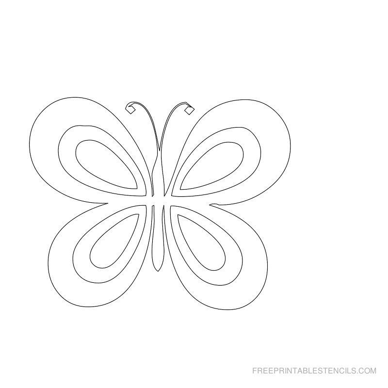 800x800 Free Printable Butterfly Stencils Free Printable Stencils