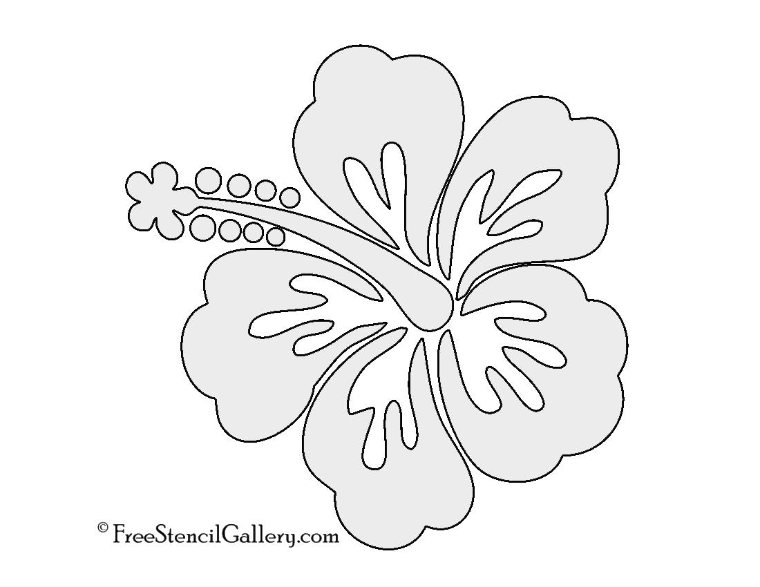 1100x850 Hibiscus Flower Stencil Free Stencil Gallery