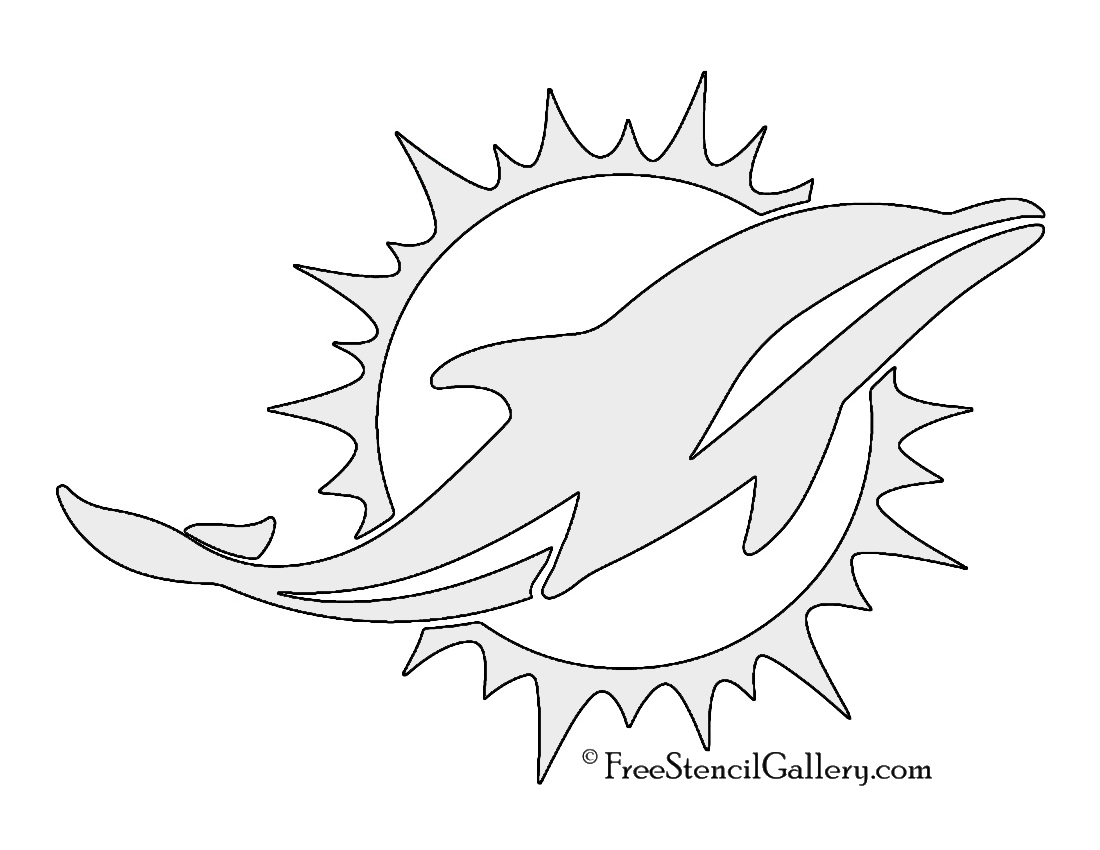 1100x850 Nfl Miami Dolphins Stencil Free Stencil Gallery