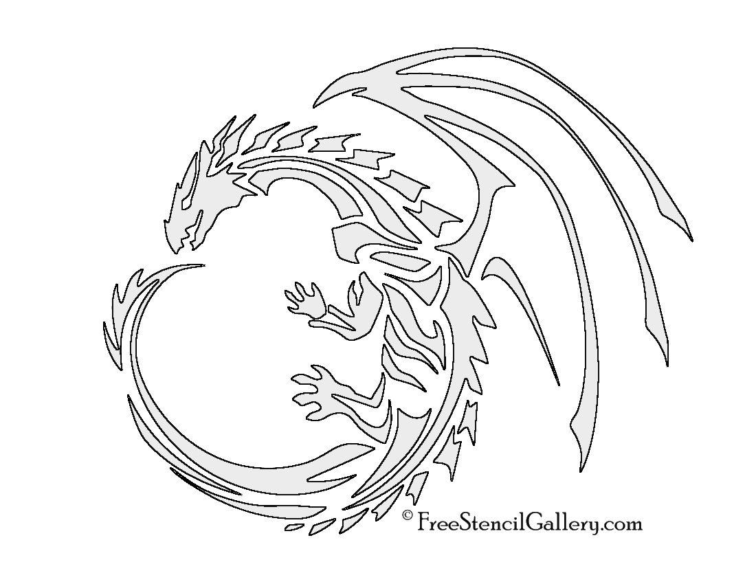 1100x850 Dragon Stencil Crafts Stenciling, Painting